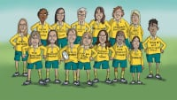 Female rugby team