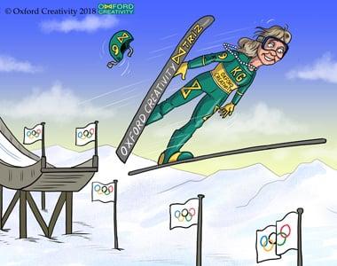 1536 Ski jump_panel